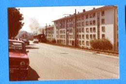 NY587, LEB, Train Lausanne -Echallens - Bercher, Avenue D'Echallens à Lausanne, Photo 1973 - Treni