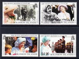 1999 Solomon Islands Queen Mother Century  Complete Set Of 4 MNH - Salomoninseln (Salomonen 1978-...)