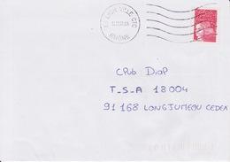 Lettre Oblitération 1999 Essai Machine NEC 69 LYON VILLE CTC RHONE Sur Marianne De Luquet Jumelet Roulette - 1961-....