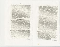 1843 REGNO DELLE DUE SICILIE DECRETO ISCHIA 2 DECRETI - Décrets & Lois