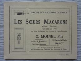 """Brochure """"Les Soeurs Macaron"""" Nancy, Historique De Cette Maison Fondée En 1793, 4 Pages, TBE P5-1080370 - Publicités"""