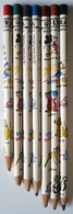 Lot De 7 Crayons De Couleurs DISNEY - Marque LYRA - MICKEY - SIMPLET - DONALD PLUTO - BAMBI - FLOWER PUTOIS - Crayon - Unclassified