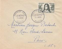 LETTRE. SEUL. N° 1208 LE NÖTRE PREMIER JOUR PARIS - Postmark Collection (Covers)