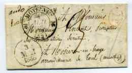 Cursive 52 Labourdonnais + T12 Moyenvic+Boite Rurale H Identifiée De Maizières / Dept 52 Meurthe / - Marcophilie (Lettres)