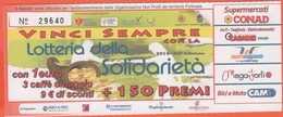 BIGLIETTO - Lotteria Della Solidarietà 2014 - Usato - Lottery Tickets
