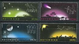 Botswana Mi# 905-8 Postfrisch MNH - Space Night - Botswana (1966-...)