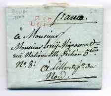 """P57P DOUAI + """" Franco""""  Manuscrtit  / Dept Du Nord / 1807 - Marcophilie (Lettres)"""