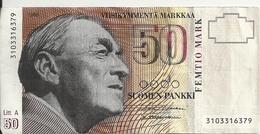 FINLANDE 50 MARKKAA 1986(1991) VF P 118 - Finlande