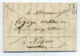 31 Auch ( En Bleu)  / Dept Du Gers  / 1825 - Marcophilie (Lettres)