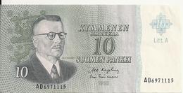 FINLANDE 10 MARKKAA 1963 VF+ P 104 - Finlande