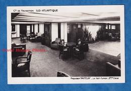 CPA - Intérieur Du Paquebot PASTEUR - Hall Fumoir 2e Classe - Compagnie De Navigation SUD ATLANTIQUE Style Vintage Decor - Steamers