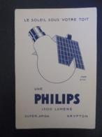 BUVARD - PHILIPS : LE SOLEIL SOUS VOTRE TOIT - Buvards, Protège-cahiers Illustrés