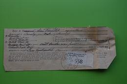 4-942 Postes PTT Cotisation Assurance Sociale Agriculture Curchy Somme Nesle Picardie 1940 Barbette - Agriculture