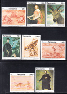 1992 Tanzania Spain Art Paintings Goya Velazquez Complete Set Of 8 MNH - Tansania (1964-...)