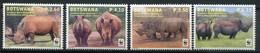 Botswana Mi# 953-6 Postfrisch MNH - Fauna WWF Rhino - Botswana (1966-...)