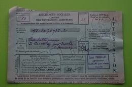 4-943 Postes PTT Cotisation Assurance Sociale Agriculture Curchy Somme Nesle Picardie 1940 Barbette - Agriculture