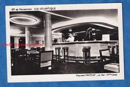 CPA - Intérieur Du Paquebot PASTEUR - Le Bar 2e Classe - Compagnie De Navigation SUD ATLANTIQUE Style Vintage Decor - Paquebots