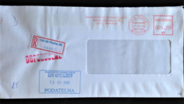 Czechia, Registered And Stampless Circulated Cover, 2008 - Lettres & Documents