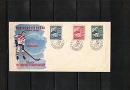 Czechoslovakia 1947 Praha World Hockey Championship Interesting Cover Scarce - Eishockey