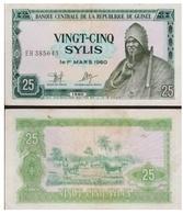 Billet République De Guinée 25 Sylis - Guinée