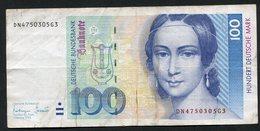 100 Dm / Deutsche Mark / Bundesbanknote 1-10-1993 (DN) - See The 2 Scans For Condition.(Originalscan ) - 100 Deutsche Mark