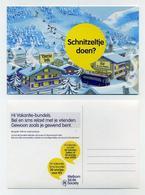 CP Pub Néerlandaise - Tourist Info - Schnitzeltje Doen - Dessin, Drawing - Hiver, Neige - Nederland Natherlands Pays-Bas - Publicité
