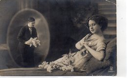 FEMMES 1015 : La Pensée Avec Des Fleurs , édit. R P H 2802/5 : Logo Un Rond Et Un Cheval - Femmes