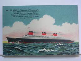 LOT DE 6 CARTES - LE HAVRE - PAQUEBOT NORMANDIE - Steamers