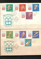 Hungary 1963 Olympic Games Innsbruck - Hockey FDC - Eishockey