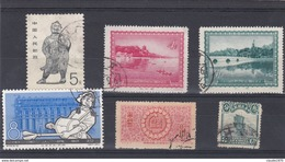 CINA - LOTTO DI 6 FRANCOBOLLI - USATI - 1949 - ... Volksrepubliek