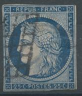 Lot N°54645  N°4a Bleu Foncé, Oblit Grille De 1849 - 1849-1850 Cérès