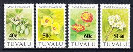 1993 Tuvalu Flowers Complete Set Of 4 MNH - Tuvalu