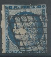 Lot N°54647  N°4a Bleu Foncé, Oblit Grille De 1849 - 1849-1850 Cérès