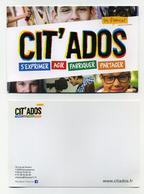 CP Pub - Cit'Ados - Les Francas - S'exprimer, Agir, Fabriquer, Partager - Publicité