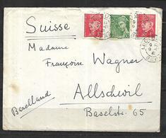 France Lettre  09 11 1941  De Ledoure (  Gers) Pour Allschwil  ( Suisse ) - France