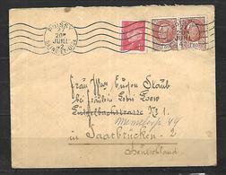 France Lettre  20  07 1942   De  Poissy   Pour  Saarbrücken - France
