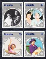 1985 Vanuatu Queen Mother JOINT ISSUE  Complete Set Of 4 MNH - Vanuatu (1980-...)