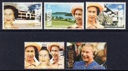1992 Vanuatu QEII Accession JOINT ISSUE  Complete Set Of 5 MNH - Vanuatu (1980-...)