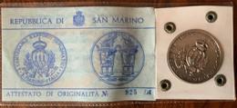 SAN MARINO 1963 - Medaglia Argento  CENTENARIO RAPPORTI DIPLOMATICI ITALIA R.S.M. - Gettoni E Medaglie