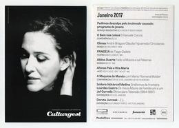 CP Pub Portugaise - Aldina Duarte - Culturgest - Programmation Janvier 2017 - Portugal - Publicité