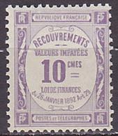 Timbre Taxe Neuf ** N° 44(Yvert) France 1908 - Recouvrements Valeurs Impayées - 1859-1955 Nuevos