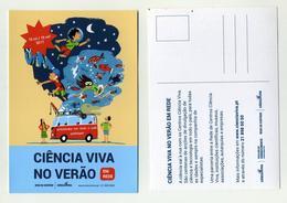 CP Pub Portugaise - Ciência Viva No Verão Em Rede - Sciences - Portugal - Publicité