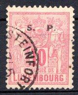 LUXEMBOURG - 1882-83 - N° 58 - 10 C. Rose - (Surchargé : S.   P.) - Service