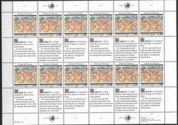 1991 UNO Genf  Mi. 208-9**MNH    Allgemeine Erklärung Der Menschenrechte - Blocks & Kleinbögen
