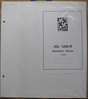 DAVO - Feuilles Blanches Avec Léger Quadrillage Standard (REF. 1250 R Standard) - Paquet De 20 - Albums & Reliures