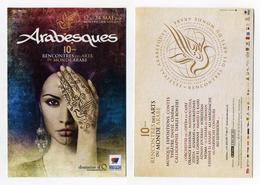 CP Pub - Arabesques - Rencontres Des Arts Du Monde Arabe - 2015 - Montpellier, Hérault - Visage Femme - Publicité