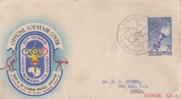 Enveloppe  FDC   1er   Jour    AUSTRALIE    JEUX   OLYMPIQUES  De   MELBOURNE   1956 - Verano 1956: Melbourne