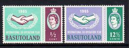 1965 Basutoland ICY JOINT ISSUE Complete Set Of 2 MNH - Basutoland (1933-1966)