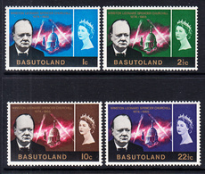 1966 Basutoland Churchill JOINT ISSUE Complete Set Of 4 MNH - Basutoland (1933-1966)