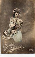 FEMMES 1021 : Bonne Année Panier De Fleurs , édit. Dales 189 - Femmes